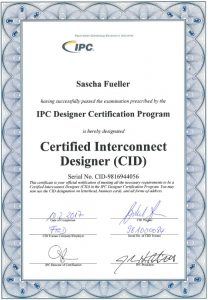 Certified Interconnect Designer CID Zertifikat (IPC)